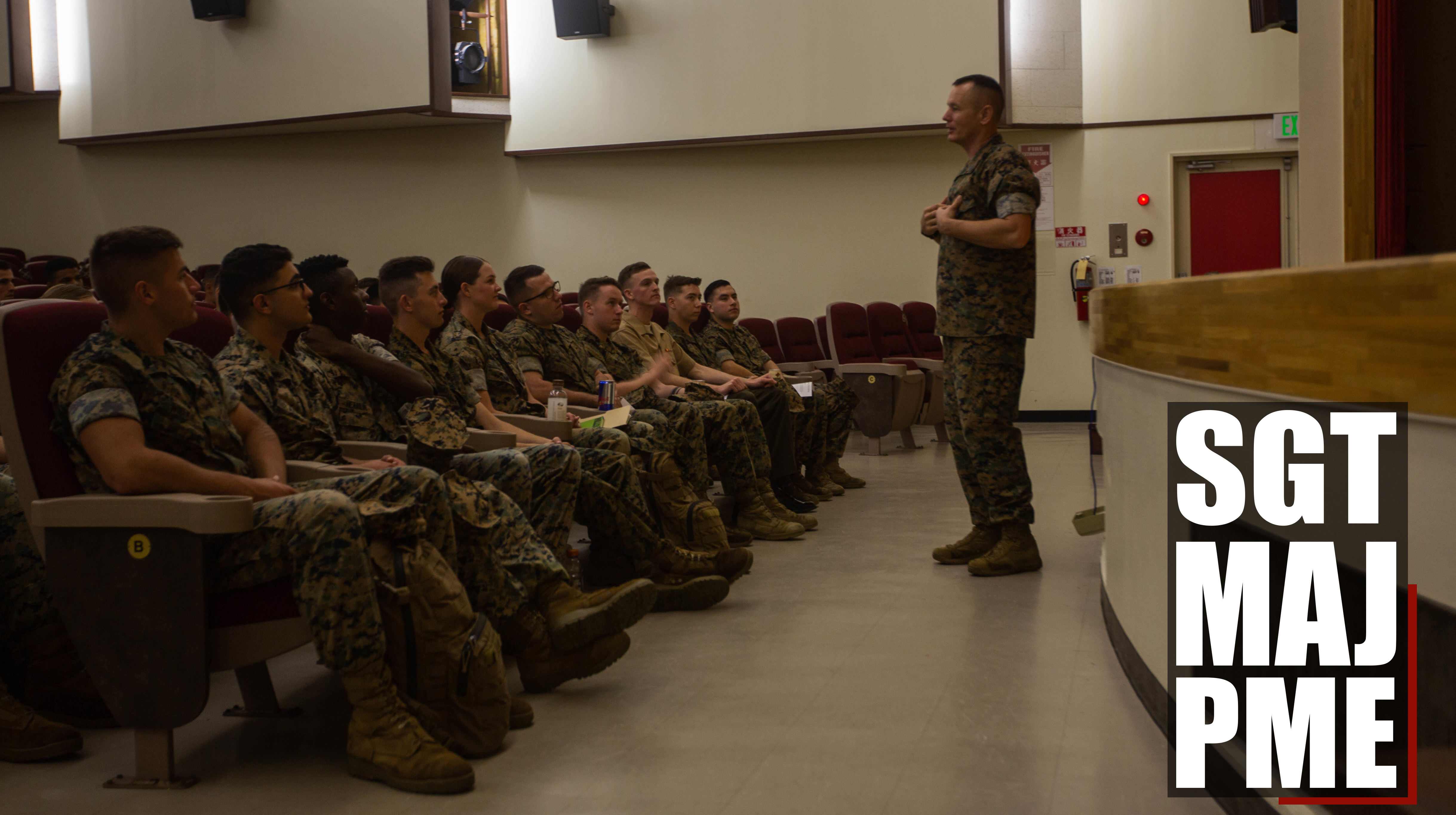 Sergeant Major Professional Military Education Class